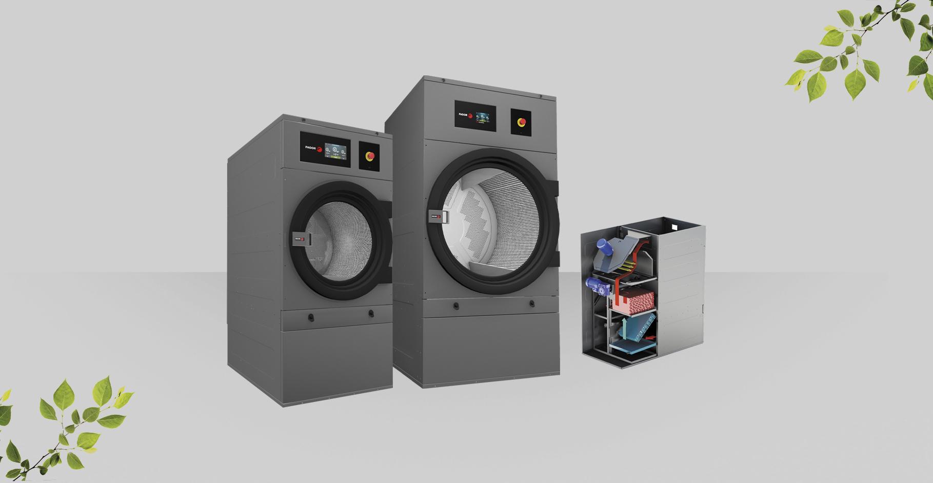 Machine À Laver Et Sèche Linge Intégré sèche-linge industriel de pompe à chaleur - fagor industrial